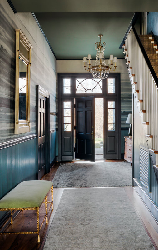 An open and inviting front door at The Clifton Manor House.